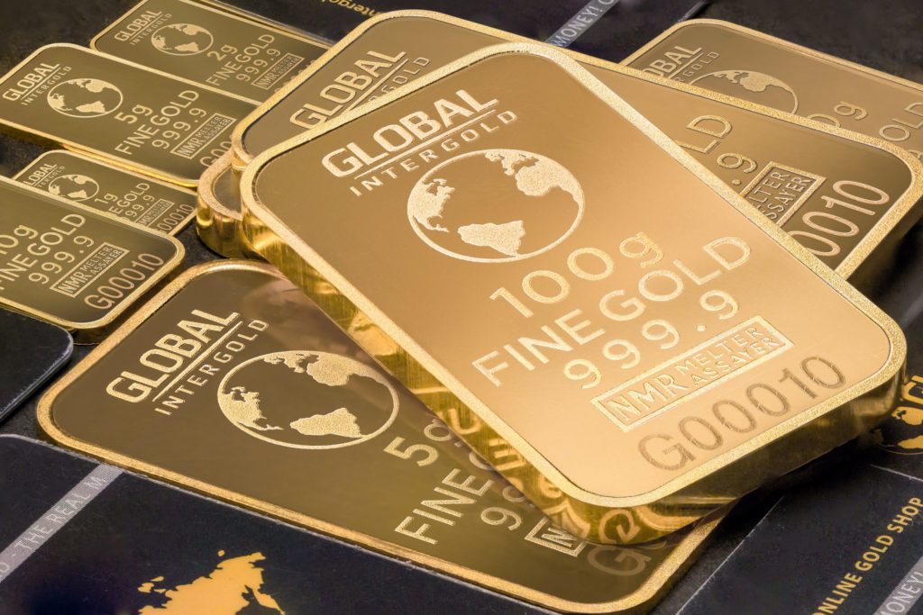 Image of gold bars in several weights